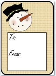 Snowman Head Hang Tag