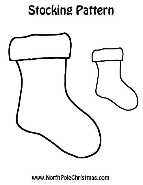Stocking Outline http://www.northpolechristmas.com/patternstocking12 ...