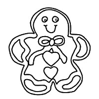 Lots of Icing Gingerbread Man Pattern