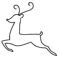 Reindeer Patterns - For Clip Art, Christmas Crafts