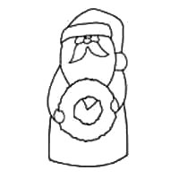 Santa com Pattern Wreath