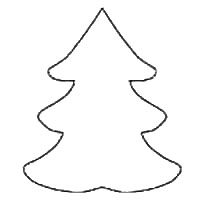 Christmas tree template for crafts coloring pages shapes for Plain christmas tree coloring page