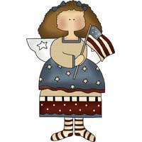 Flag Angel Ornament