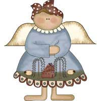 Saltbox Angel Ornament
