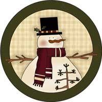 Snowman Ornament Template
