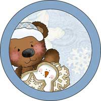 Christmas Bear Ornament Template