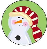 Happy Snowman Ornament Template