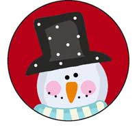 Snowman Hat Ornament Template