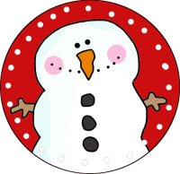 Cuter Snowman Ornament Template