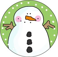Too Cute Snowman Ornament Template