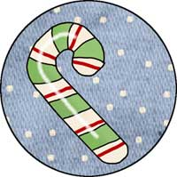 Candy Cane #2 Ornament Template