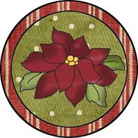 Poinsettia Ornament Template