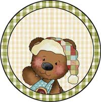 Santa Bear #2 Ornament Template