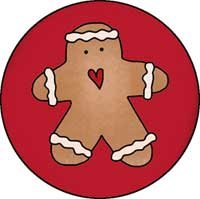 Gingerbread Man Ornament Template