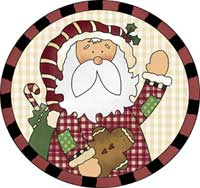 Santa Greetings Ornament Template