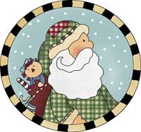 Jolly Santa Ornament Template