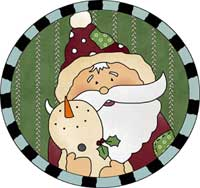Santa and Snowman Buddy Ornament Template
