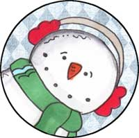 Snowman Face Ornament Template