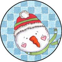 Snowman Face #2 Ornament Template