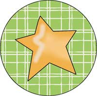 Star in the Round Ornament Template
