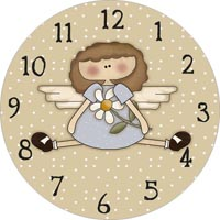 angel with flower clock face
