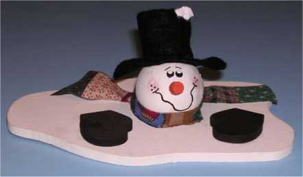 Larger image melted snowman snowman christmas crafts you will need