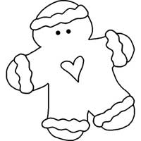 Gingerbread Man With Heart
