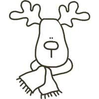 Reindeer Patterns For Clip Art Christmas Crafts
