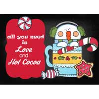 All You Need is Love and Hot Cocoa sign