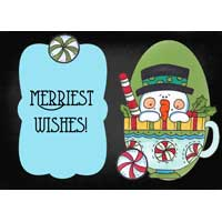 Merriest Wishes in a cup of hot cocoa