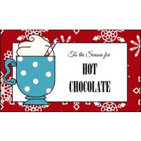 Hot Cocoa Gift Basket Signs