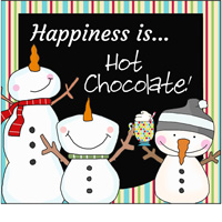 happiness is hot chocolate