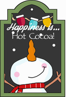 happiness is hot cocoa tag