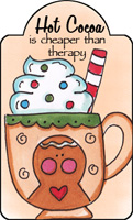 hot chocolate is cheaper than therapy