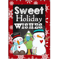 sweet holiday wishes sign