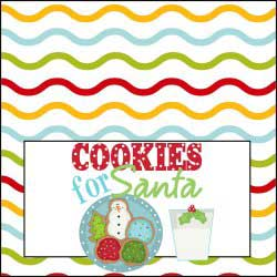 Cookies and Milk for Santa Sign