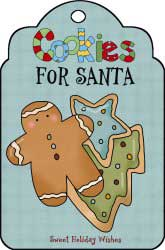 Cookies for Santa with Gingerbread Boy