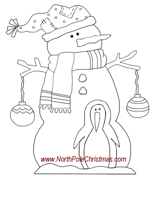 Snowman with penguin pattern to make snowman from wood cut snowman