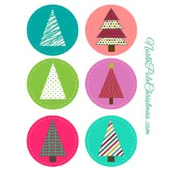 Circle Ornaments or Cupcake Toppers