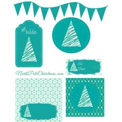Dark Teal Printables
