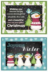 Chalkboard Christmas Cards or Postcards