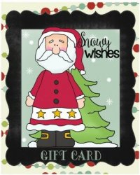 Chalkboard Christmas Gift Cards