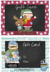 Chalkboard Gift Cards