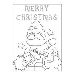 Merry Santa Claus Coloring Page