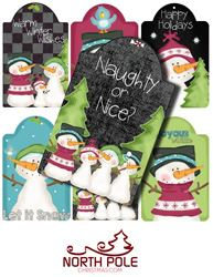 Christmas Hang Tags Including Chalkboard Tags