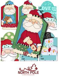 Santa and Snowman Hang Tags