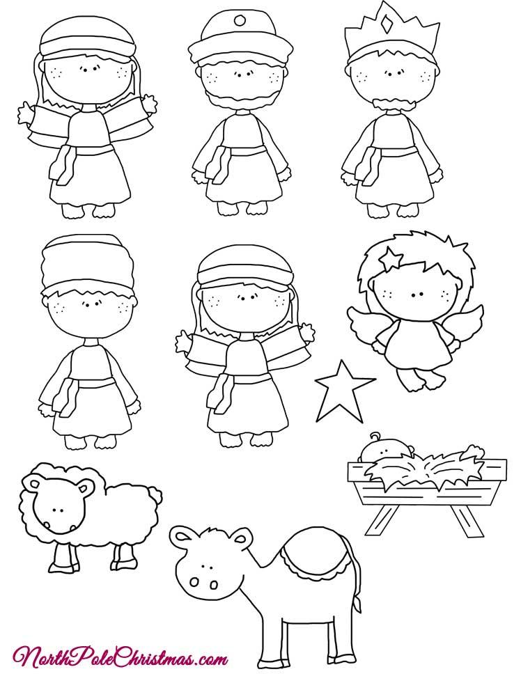 Line Art Joy : Joy nativity pattern line art northpolechristmas