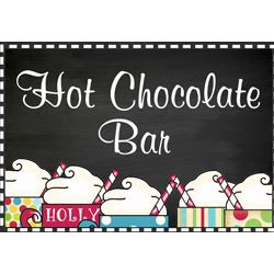 Hot Chocolate Bar Labels