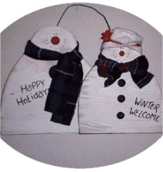 Snow Couple free woodworking patterns