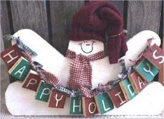 Happy Holidays Snowman Crafts